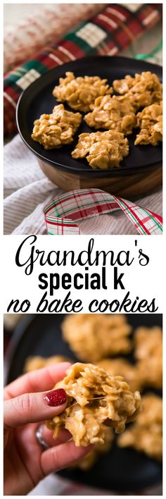 Grandma's Special K No Bake Cookies are absolutely addictive, with an irresistible mix of crunchy cereal flakes, sweet sugar and salty peanut butter!