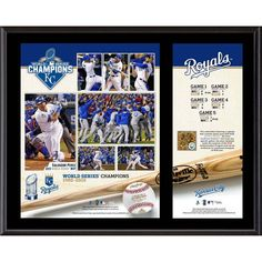 """Kansas City Royals Fanatics Authentic 2015 MLB World Series Champions 12"""" x 15"""" Sublimated Plaque with a Piece of Game-Used World Series Dirt - $59.99"""