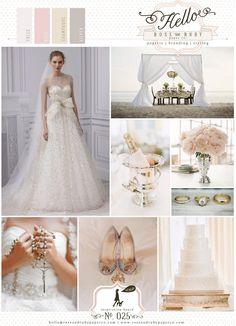 Gold, silver, blush sparkly wedding inspiration.