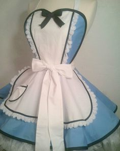 Alice In Wonderland Pin Up Costume Apron, Cosplay by SassyFrasCollection on Etsy https://www.etsy.com/nz/listing/159466746/alice-in-wonderland-pin-up-costume-apron