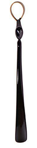 """Alessi Germano Shoehorn by Alessi. $40.00. Alessi AHC01 Designed by Harry and Camila, the Germano Shoehorn is the product to always have on hand. This shoehorn is made of polyamide and is guaranteed to last for years to come. Features: -Made of polyamide. -Overall Dimensions: 16.5"""" W x 1.6"""" D. Order with Confidence: -Should you discover shortly after receiving your Germano Shoehorn that parts are either damaged or missing, please call us immediately, and we will be ..."""