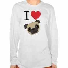I Heart Pugs T-shirt