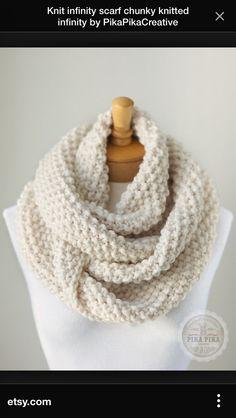 Cream crochet infinity