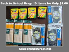 Back to School Shopping Brag: 10 Items for $1.60