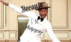 Happy ! Happy ! Happy ! #pharell #is #happy
