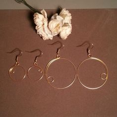 Gold Sterling Silver   #hoopearrings #goldhoops #handmade #earrings #jewelry