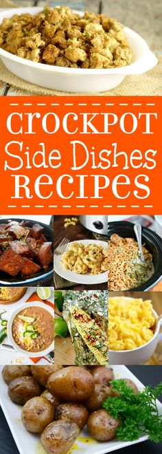 36 delicious and easy Crockpot Side Dishesrecipesgive you the chance to focus on dinner while all the yummy side dishes cook themselves in the slow cooker. Crockpot side dishes recipe ideas including vegetables, potatoes, breads, mac and cheese, rice and pasta and more, all in the slow cooker!