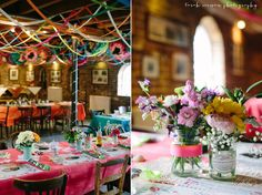 LOVE this colorful, mexican themed wedding