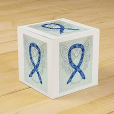 Thyroid Paisley Awareness Ribbon Angel Favor Box