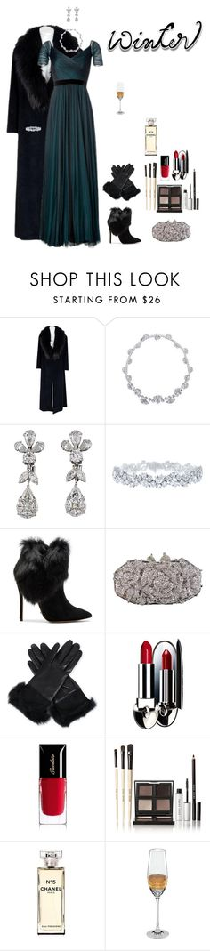 """Why not dress up?"" by shulabond on Polyvore featuring Sorelle Fontana, Jenny Packham, Harry Winston, Schutz, Otazu, UGG Australia, Guerlain, Bobbi Brown Cosmetics, Chanel and Michael Wainwright"