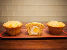 Put-An-Egg-In-It Ham and Cheese Corn Muffins recipe from Food Network Kitchen via Food Network
