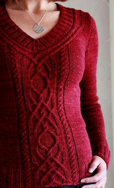 Ravelry: Cabeladabra pattern by Hanna Maciejewska knit pullover cables