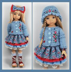 OOAK BLue Raspberry Outfit from maggie_kate_create ends 8/30/14. SOLD for $127.50