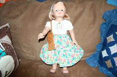 doll clotheshippie outfit handmade blouse and by karenhannarosson, $25.00
