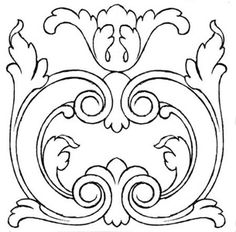La Talla ornamental en Madera, por Rogelio Riesgo Wood Carving Patterns, Carving Designs, Mandala, Tampons, Hand Embroidery Designs, Fabric Painting, Line Art, Design Elements, Coloring Pages