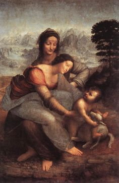 Leonardo da vinci, The Virgin and Child with Saint Anne 01 - Leonardo da Vinci - Wikipedia, the free encyclopedia