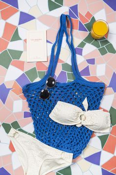 Crochet bag - let's to the beach !