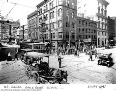 North east corner of King Street and Yonge Street    Photographer: William James  ca. 1912