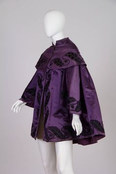 Victorian Silk Satin coat with Quilted Lining, 1855 to early 1870's