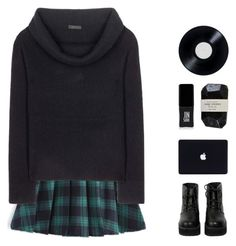 """""""]+ I don't know my name +["""" by mel2016 ❤ liked on Polyvore featuring The Row, The WhitePepper, JINsoon, Cassia, black, Blue, polyvoreeditorial and polyvorefashion"""