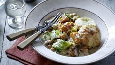 BBC - Food - Recipes : Chickpea and butternut squash casserole with scone topping