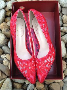 49.99$  Watch now - http://vioxr.justgood.pw/vig/item.php?t=6s90qn858876 - Blush Red Lace Wedding/bridal low heel Evening Shoes US Size 5,6,7,7.5,8,8.5,9 49.99$