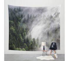 Wall Tapestry Tree Tapestry Wall HangingMountain by StayWildCo