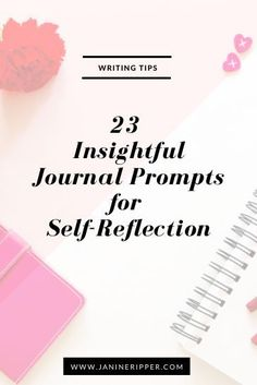 """""""23 Insightful Journal Prompts for Self-Reflection."""" Tools and tips about how to be successful as a woman, in your career and/or in business. These tools work well with success, motivation and inspirational quotes. For more great inspiration follow us at 1StrongWoman."""