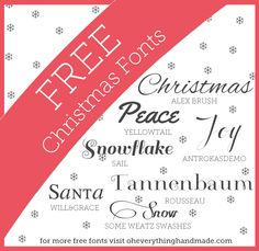 Free Font Friday // more Holiday fonts | Oh Everything Handmade  ~~ {6 free fonts w/ easy download links}