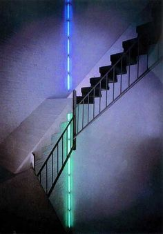 Dan Flavin #art #installation #contemporarart #museumview #interior #design