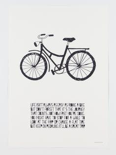 Bike poster Muumuru by hemmahosEKBERG Muumurus alla posters ?r tryckta i Finland p? Storlek: cm x 42 cm. Bike Poster, Flat Tire, Cursed Child Book, Helsinki, Life Images, Scandinavian Design, Decoration, Vintage Furniture, Cheer
