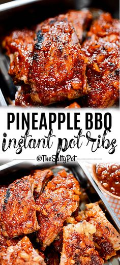 The Rise Of Private Label Brands In The Retail Meals Current Market Pineapple Bbq Instant Pot Ribs. These Ribs Are Incredibly Delicious And Easy To Make Sweet And Tangy, These Instant Pot Ribs Are Tender With That Tropical Flavor Pork Rib Recipes, Meat Recipes, Crockpot Recipes, Cooking Recipes, Chicken Recipes, Recipies, Chicken Dips, Instant Pot Ribs Recipe, Instant Pot Dinner Recipes
