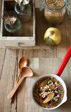 Scandi Home: Roasted quince with wheat berry