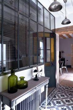 atelier, cloisonner, décoration, inétrieur, maison, verrière, verrière atelier