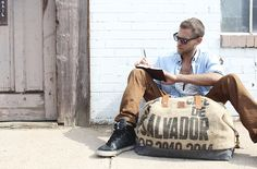 #BAREmade #burlap collection #duffel   // Products available for wholesale through www.hylighted.com //