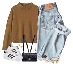 """""""vintage vibes   9:58 PM"""" by x0-chelseaa ❤ liked on Polyvore featuring Toast, Chanel, adidas, Cartier, Lime Crime, Ileana Makri and vintage"""