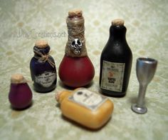 Potion Bottles - 1:12th Scale by DFLY847.deviantart.com on @deviantART