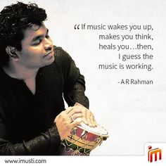 He has won two Oscars, two Grammy's, a BAFTA, a Golden Globe, four National Film Awards, fifteen Filmfare Awards and numerous other awards across the globe. There is no doubt that A.R. Rahman is a gift to Indian music.  Play his music on iMusti.