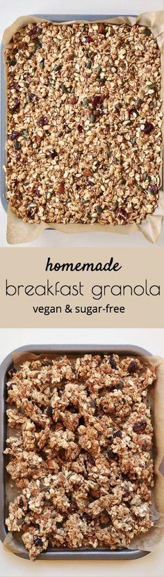 Easy Healthy Homemade Granola for Breakfast