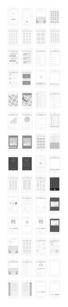 Speed up your UX workflow with Mobile UI Wireflows Kit.  Includes 57 Mobile Screens, Gesture Icons and Annotation elements and symbols for quick style changes. Mobile UI Wireflows allow you to show basic page layout, app architecture, content and UI flow.
