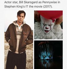 Stephen King, bill skarsgård and pennywise image on We Heart It