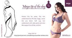 Visit us at  http://www.mayalingerie.com/  Shop Now at  http://prettysecrets.com/all/maya-lavender-wireless-bra
