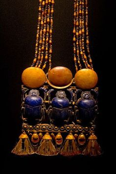 """munan15:  """"necklace from Tomb of Tutankhamun  """""""