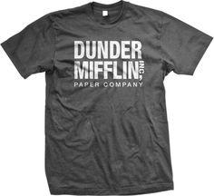 Dunder Mifflin Paper Inc T-shirt, The Office T-shirts, TV show T-shirts, Charcoal, Small