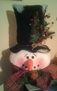 Check out this item in my Etsy shop https://www.etsy.com/listing/476897853/handmade-snowman-tree-topper