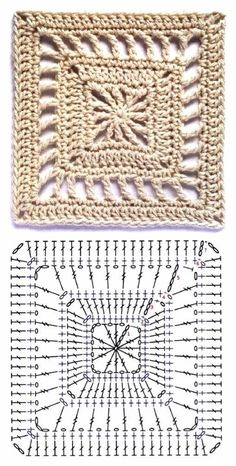 Best 12 How to Crochet a Solid Granny Square – Crochet Ideas – Page 129337820533840622 – SkillOfKing. Crochet Motif Patterns, Granny Square Crochet Pattern, Crochet Blocks, Crochet Diagram, Crochet Chart, Crochet Squares, Crochet Designs, Crochet Stitches, Afghan Patterns
