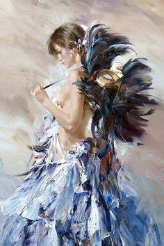 Любая женщина - это загадка Работы художника Ивана Славинского