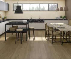 Elara-R Marron porcelain tile 19'2x119'3 cm. | Arcana Tiles | Arcana ceramica | ceramic wood | wooden | timber | kitchen