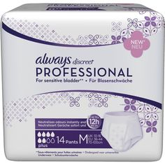 ALWAYS discreet professional Pants plus medium:   Packungsinhalt: 14 St Binden PZN: 10835740 Hersteller: Procter & Gamble GmbH Preis:…
