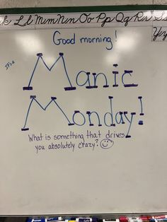 This fits with motivation. I can use this as a way to get students thinking and ready for class time. This will also get students excitement out from what happened the previous day or weekend. Days Of The Week Activities, Morning Activities, Journal Topics, Journal Prompts, Journals, Morning Board, Monday Morning, Daily Writing Prompts, Bell Work